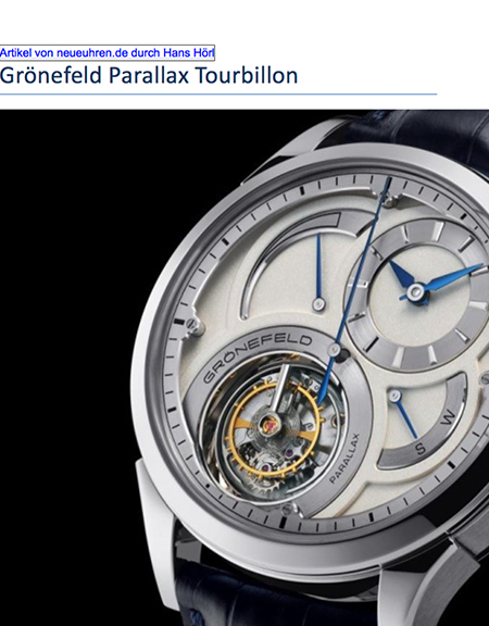 The Parallax Tourbillon