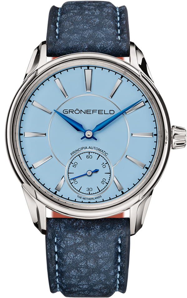 1941 Principia automatic<br>light blue dial front